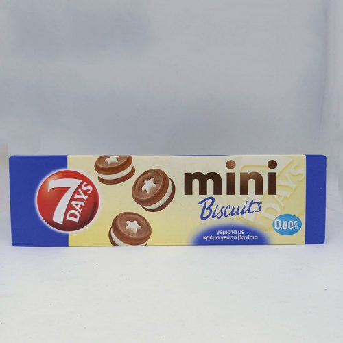 7 DAYS MINI BISCUITS ΒΑΝΙΛΙΑ 0,8€